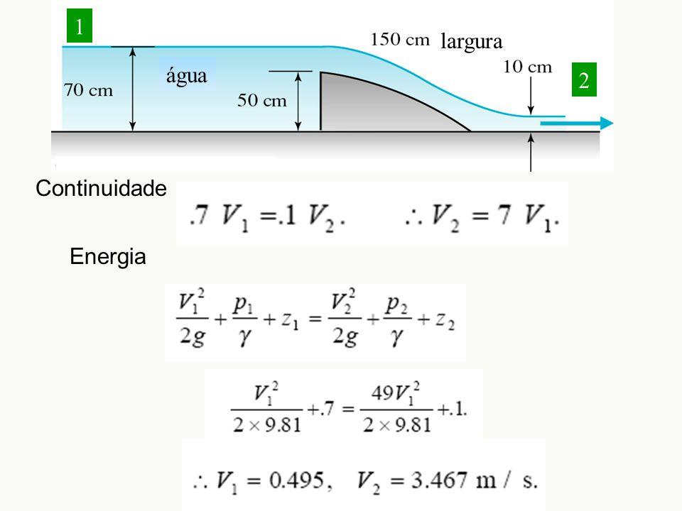 largura água 1 2 Continuidade Energia