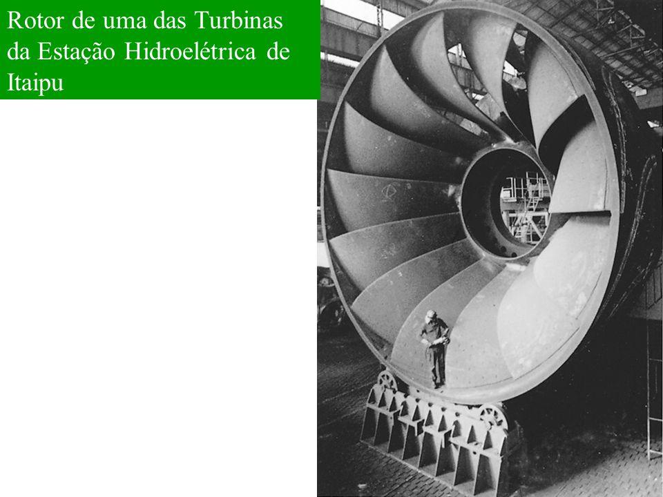 Rotor de uma das Turbinas da Estação Hidroelétrica de Itaipu