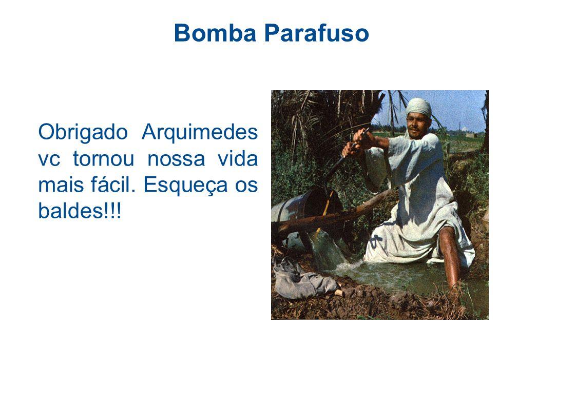 Bomba Parafuso Obrigado Arquimedes vc tornou nossa vida mais fácil. Esqueça os baldes!!!