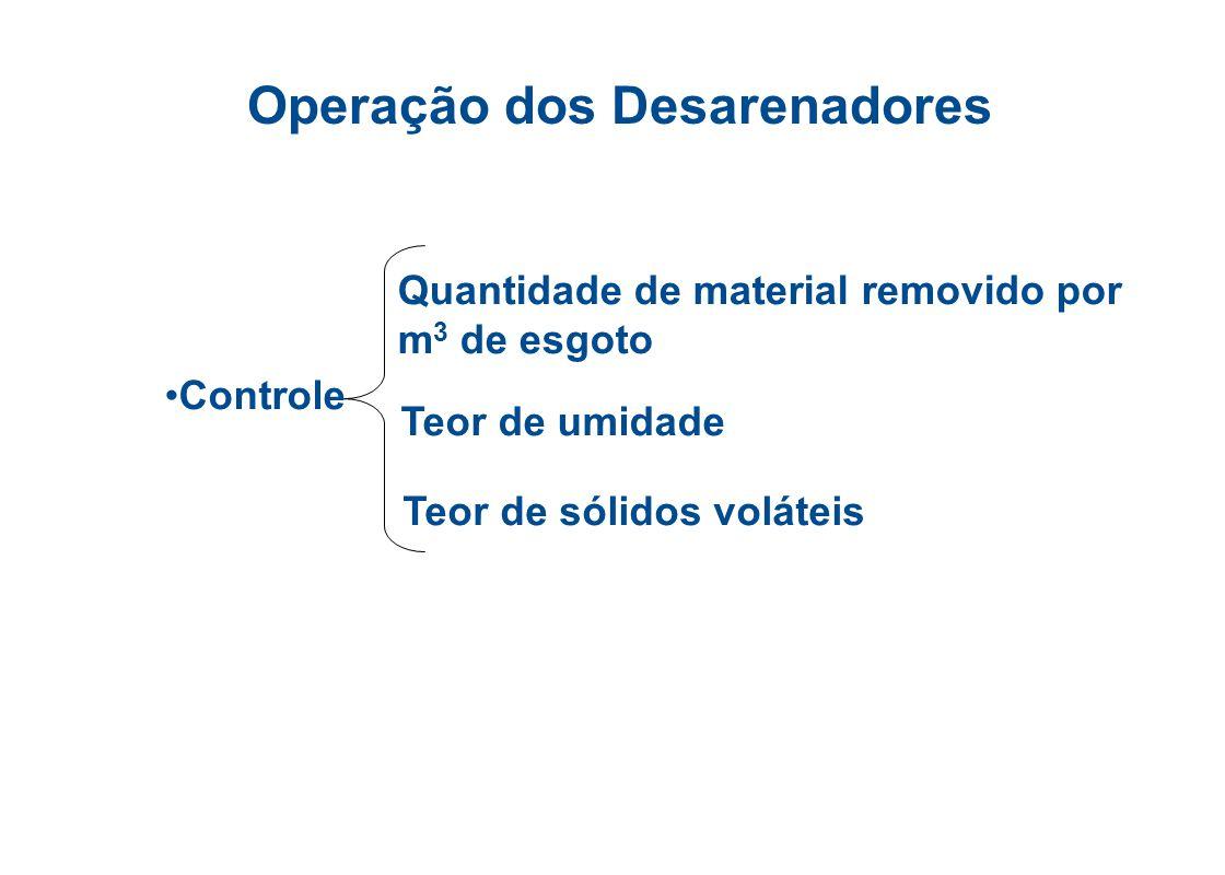 Operação dos Desarenadores