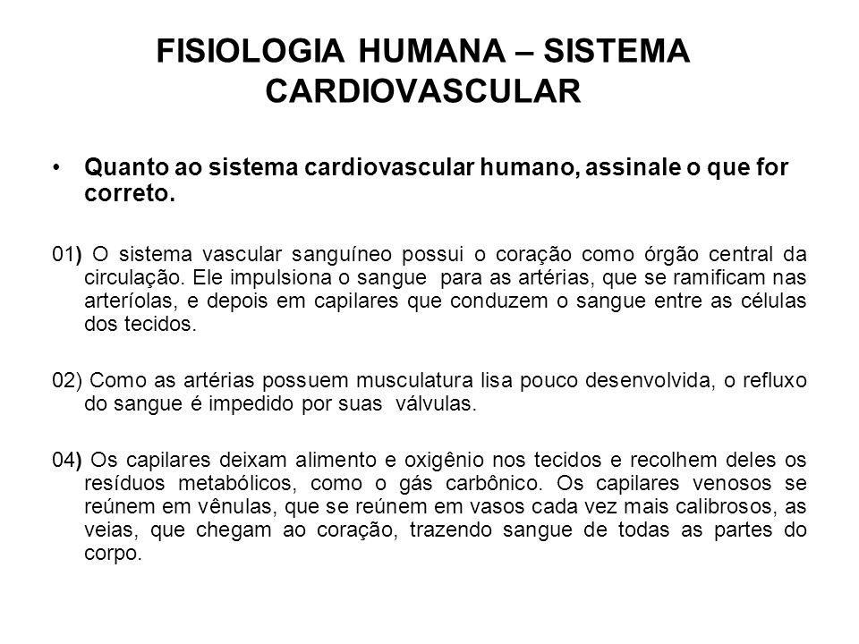 FISIOLOGIA HUMANA – SISTEMA CARDIOVASCULAR