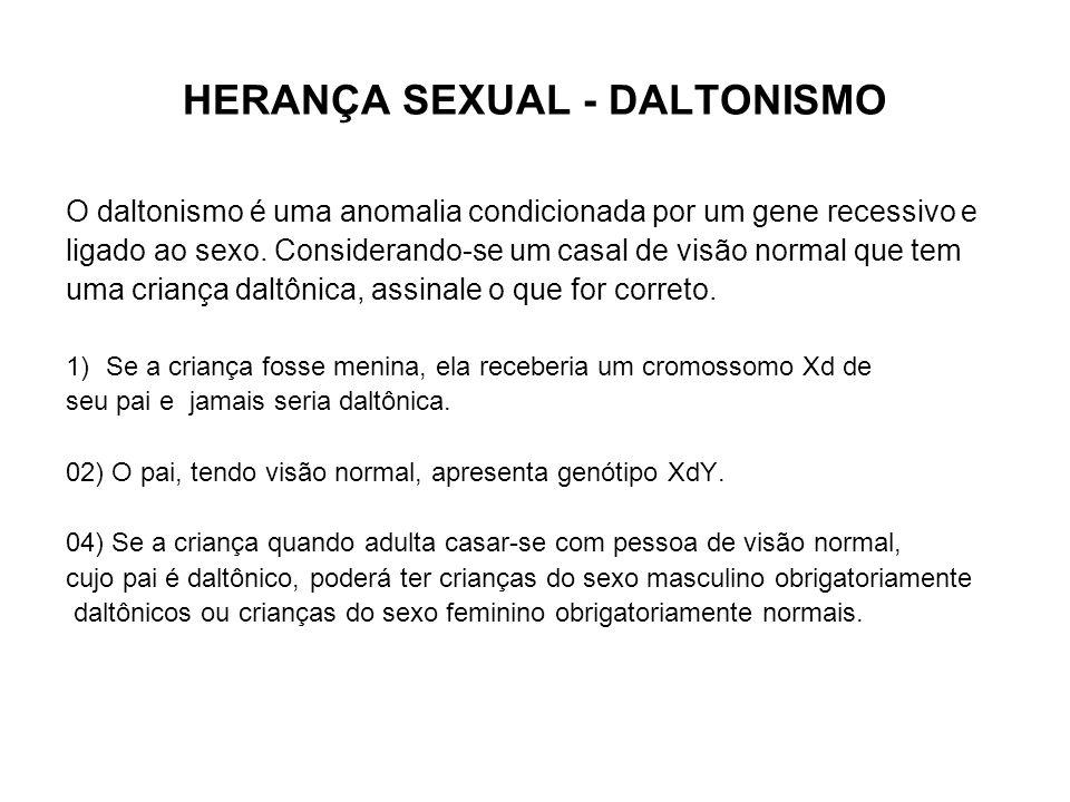 HERANÇA SEXUAL - DALTONISMO