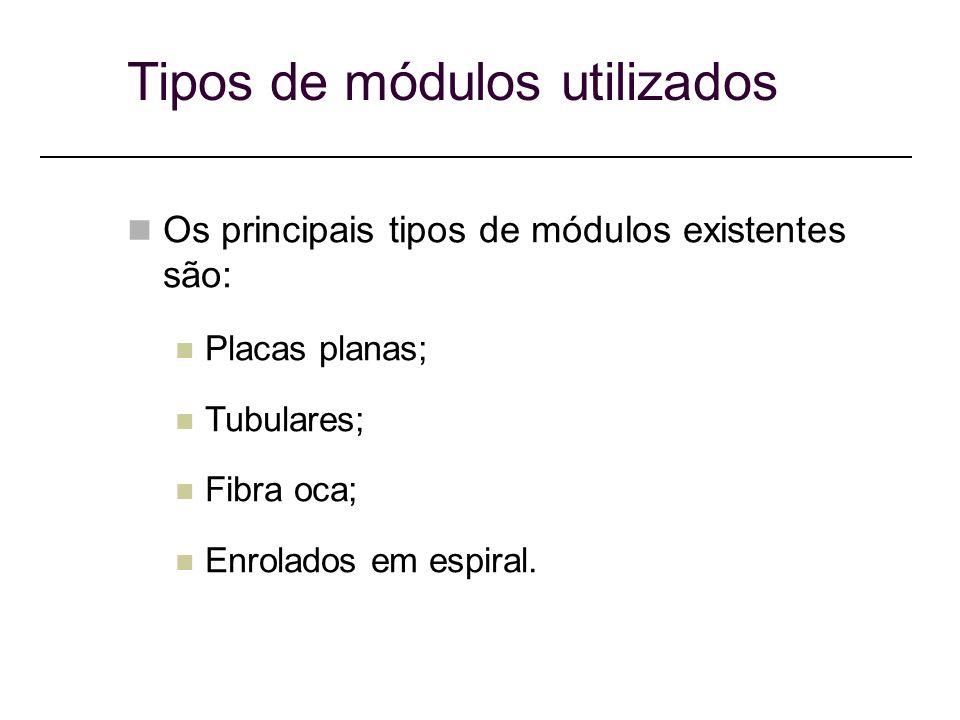 Tipos de módulos utilizados