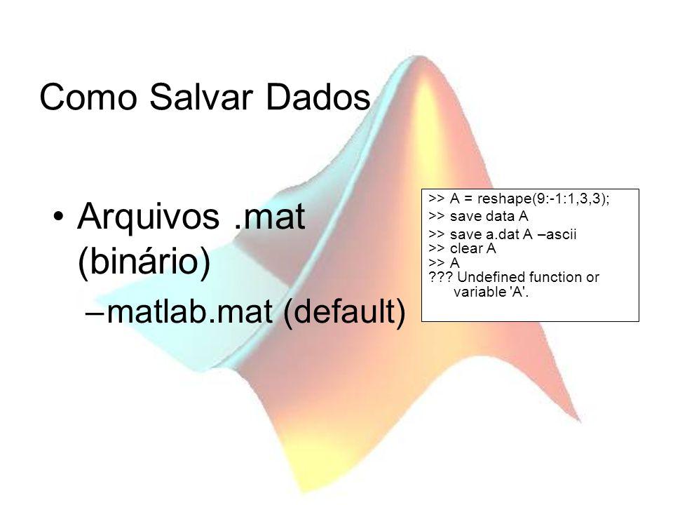 Arquivos .mat (binário)