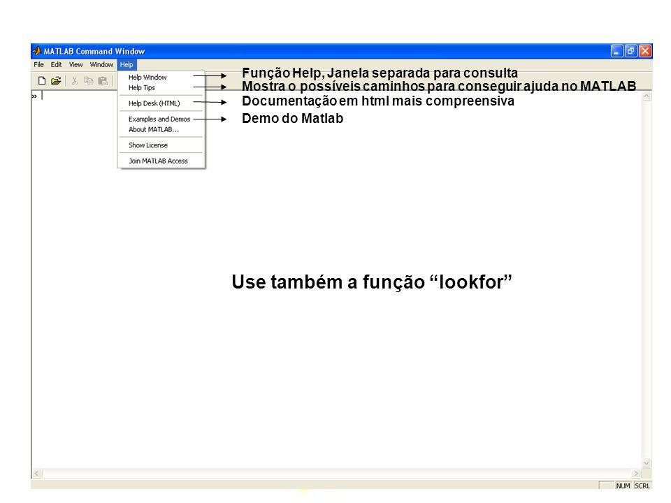Use também a função lookfor