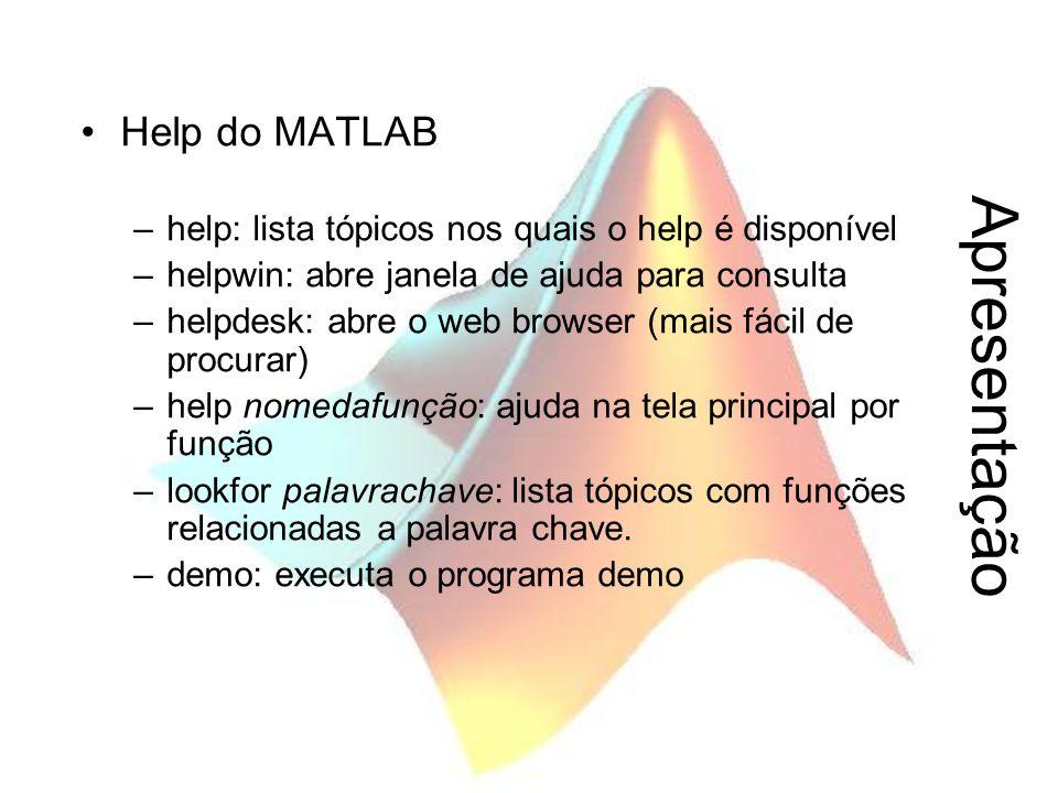 Apresentação Help do MATLAB