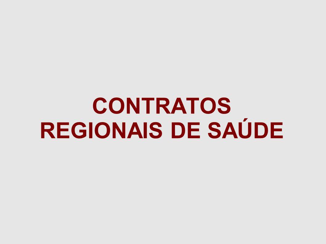 CONTRATOS REGIONAIS DE SAÚDE