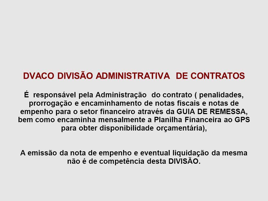 DVACO DIVISÃO ADMINISTRATIVA DE CONTRATOS