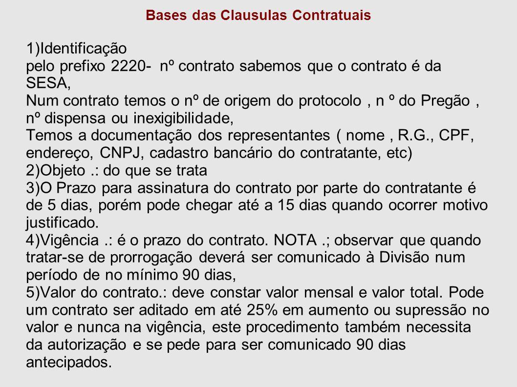 Bases das Clausulas Contratuais