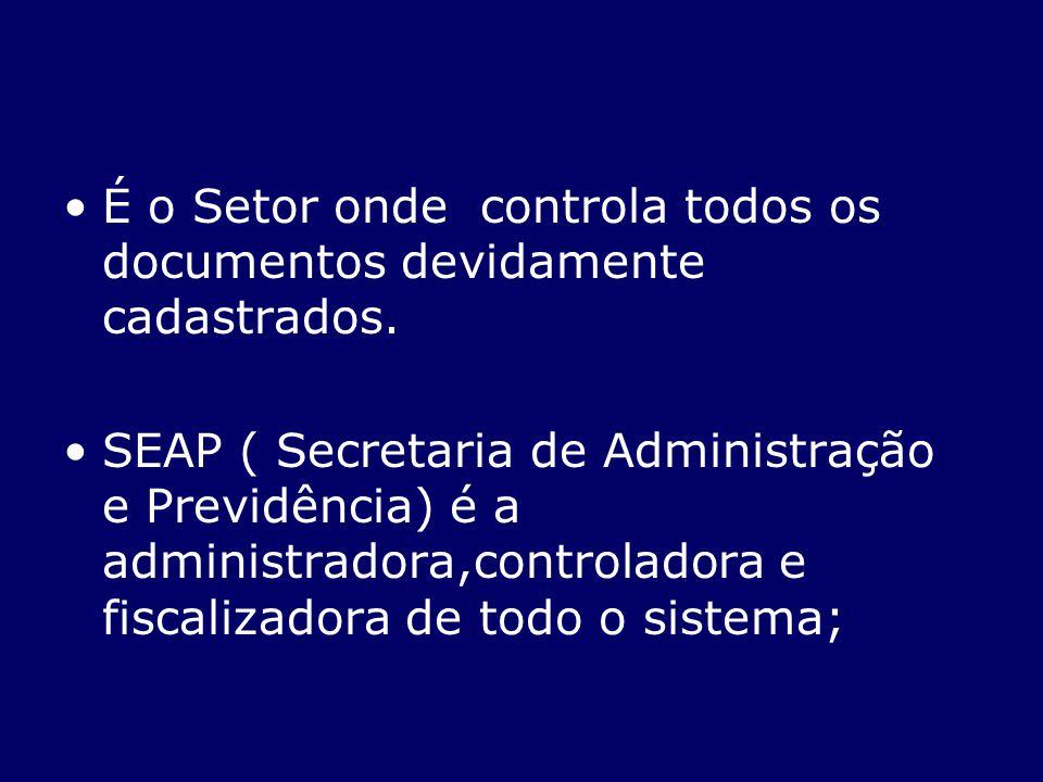 É o Setor onde controla todos os documentos devidamente cadastrados.