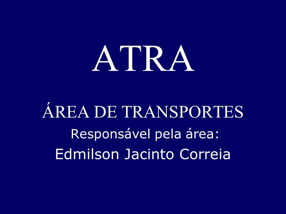 ATRA ÁREA DE TRANSPORTES Responsável pela área: Edmilson Jacinto Correia