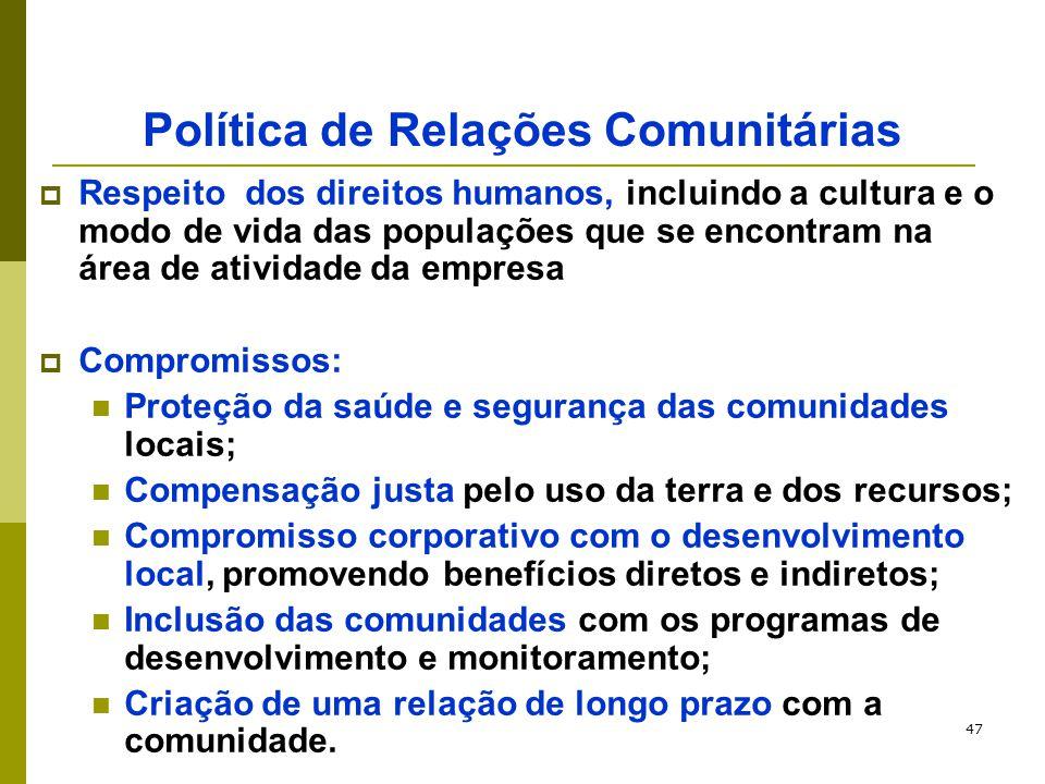 Política de Relações Comunitárias