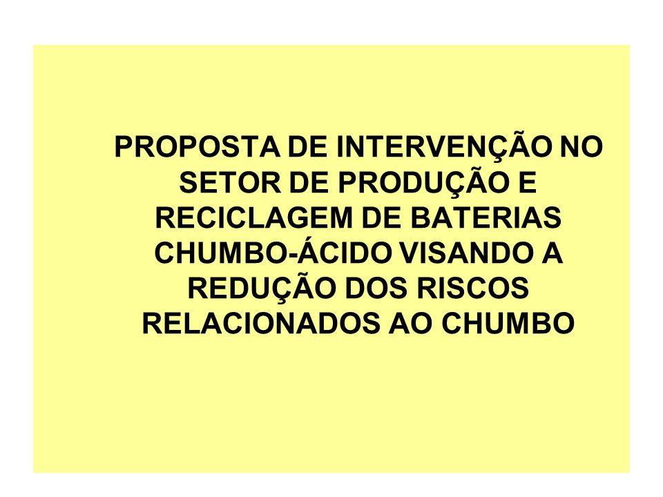 PROPOSTA DE INTERVENÇÃO NO SETOR DE PRODUÇÃO E RECICLAGEM DE BATERIAS CHUMBO-ÁCIDO VISANDO A REDUÇÃO DOS RISCOS RELACIONADOS AO CHUMBO