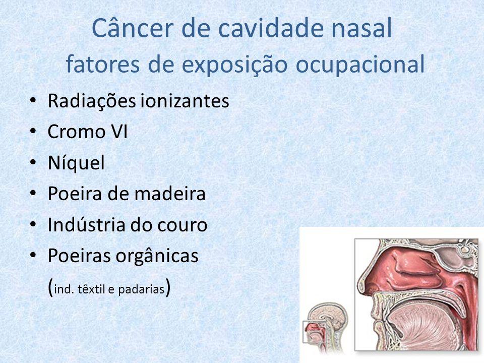 Câncer de cavidade nasal fatores de exposição ocupacional