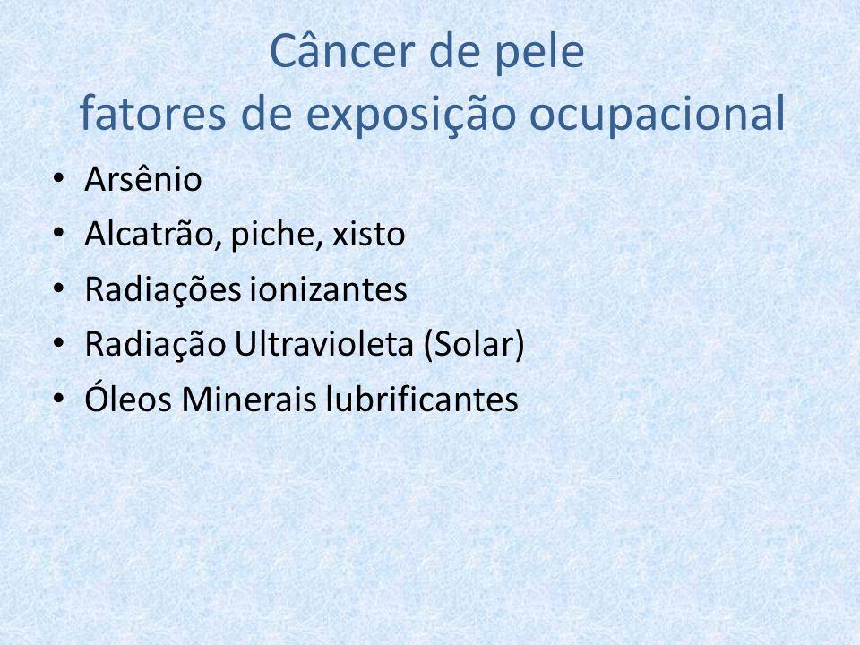 Câncer de pele fatores de exposição ocupacional