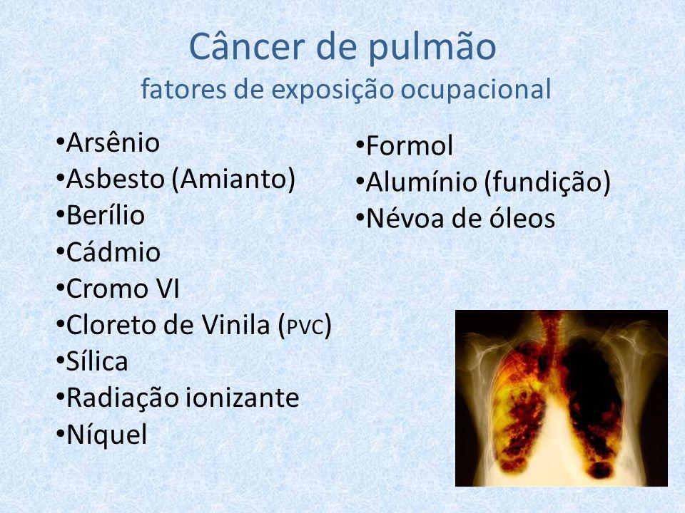 Câncer de pulmão fatores de exposição ocupacional