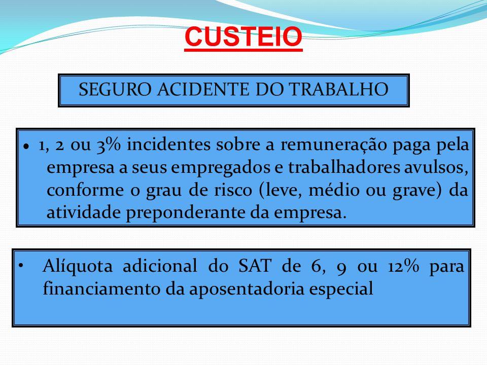 SEGURO ACIDENTE DO TRABALHO