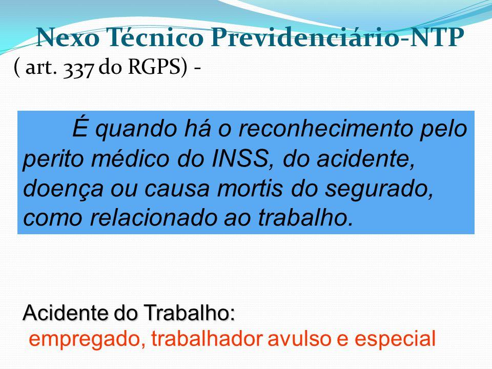 Nexo Técnico Previdenciário-NTP