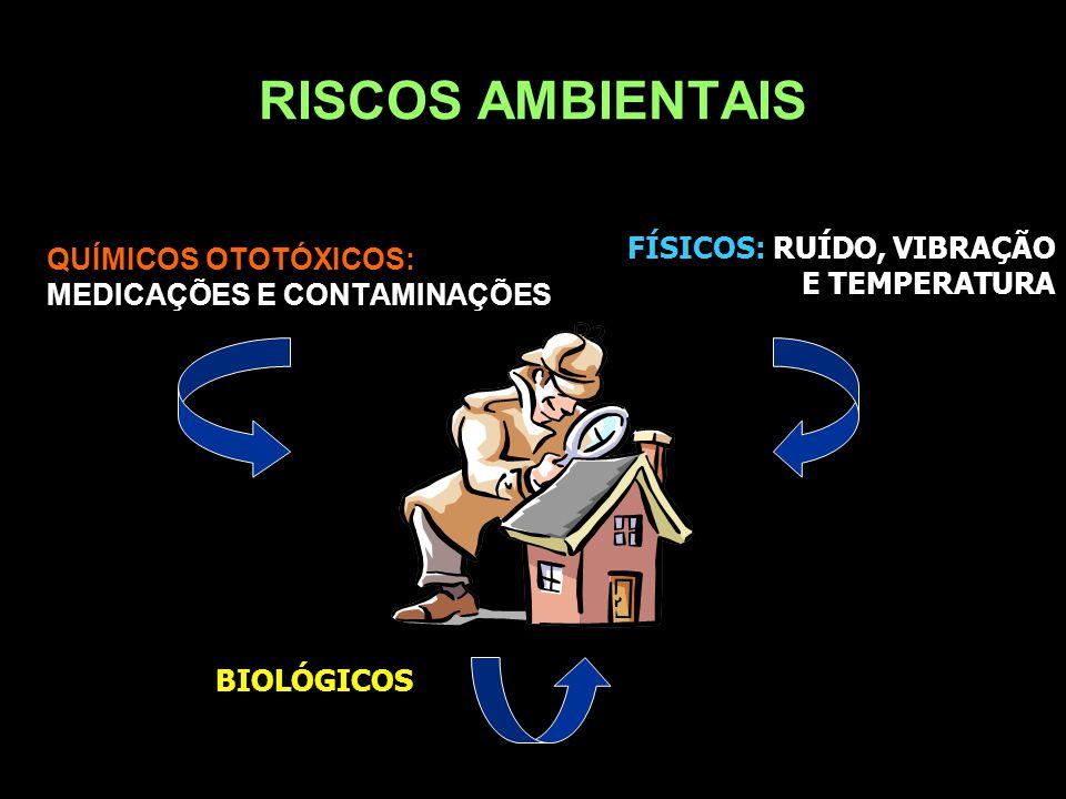 RISCOS AMBIENTAIS FÍSICOS: RUÍDO, VIBRAÇÃO E TEMPERATURA
