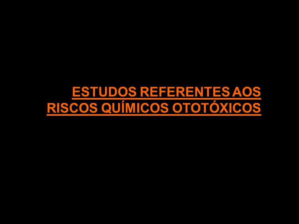 ESTUDOS REFERENTES AOS RISCOS QUÍMICOS OTOTÓXICOS
