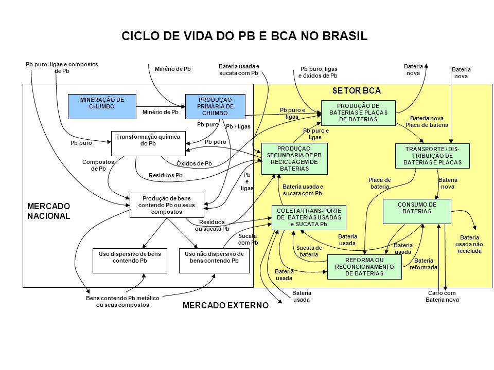 CICLO DE VIDA DO PB E BCA NO BRASIL
