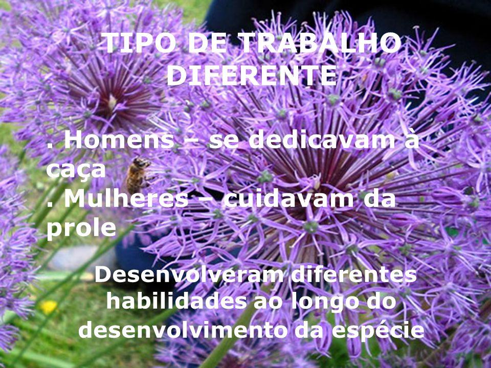 TIPO DE TRABALHO DIFERENTE