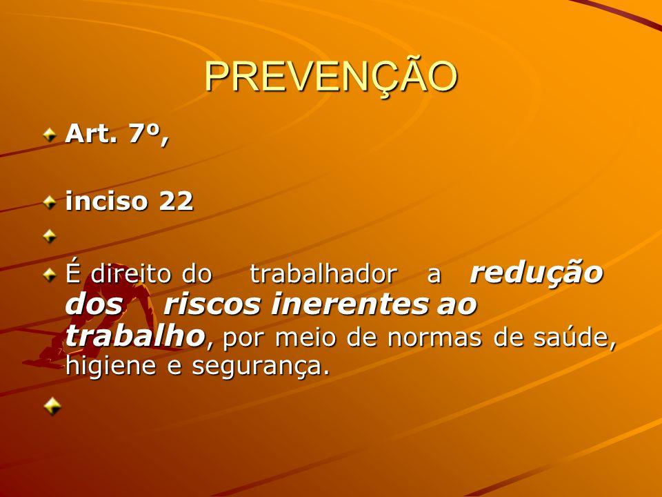 PREVENÇÃO Art. 7º, inciso 22.
