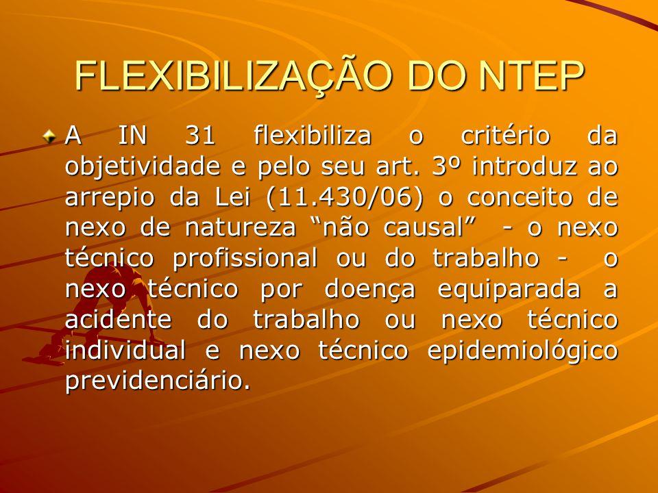 FLEXIBILIZAÇÃO DO NTEP
