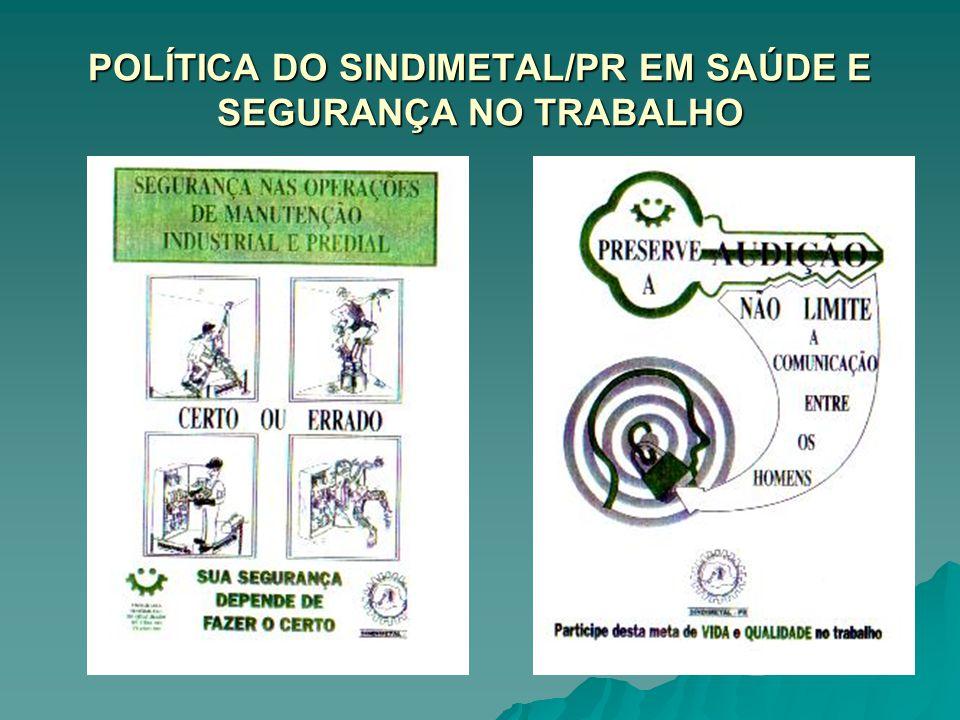 POLÍTICA DO SINDIMETAL/PR EM SAÚDE E SEGURANÇA NO TRABALHO