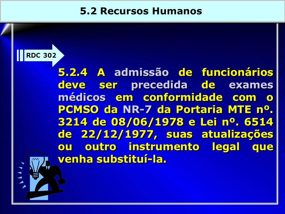 5.2 Recursos Humanos RDC 302.