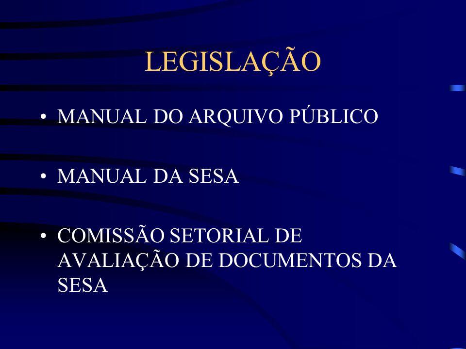 DEPARTAMENTO DE LOGÍSTICA DA SAÚDE – DELS & COMISSÃO SETORIAL DE AVALIAÇÃO DE DOCUMENTOS DA SESA