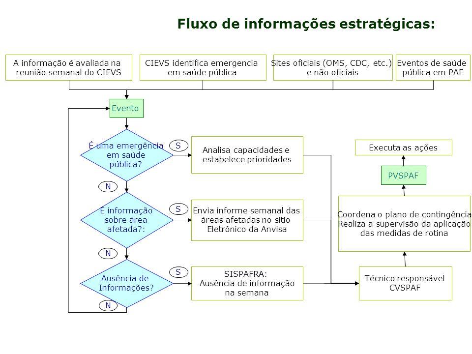 Fluxo de informações estratégicas: