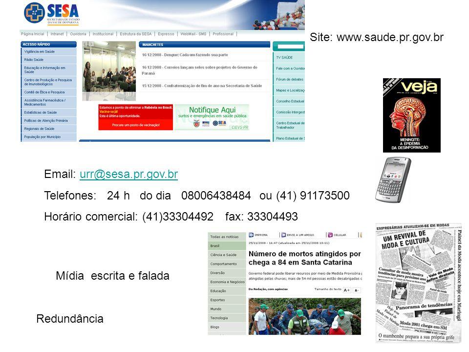 Site: www.saude.pr.gov.br