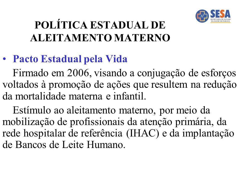 POLÍTICA ESTADUAL DE ALEITAMENTO MATERNO