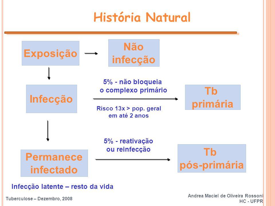 História Natural Não Exposição infecção Tb Infecção primária Tb