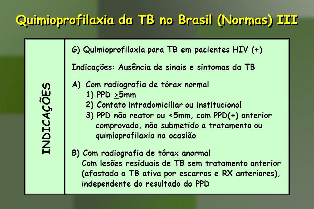Quimioprofilaxia da TB no Brasil (Normas) III