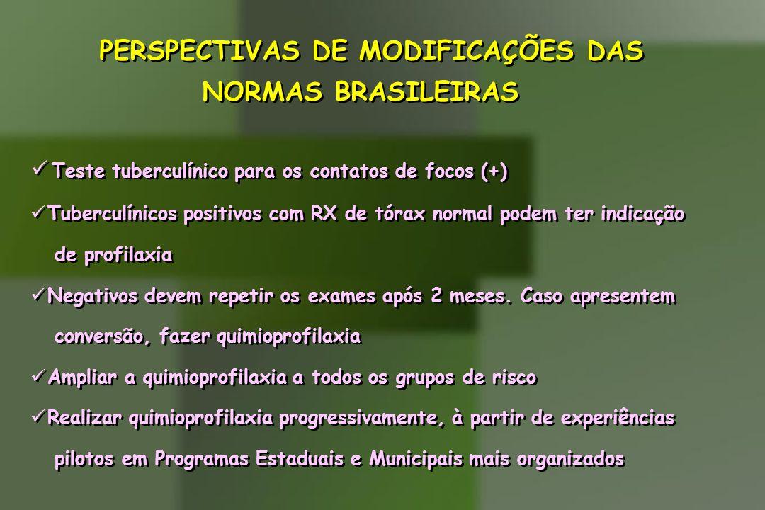 PERSPECTIVAS DE MODIFICAÇÕES DAS NORMAS BRASILEIRAS