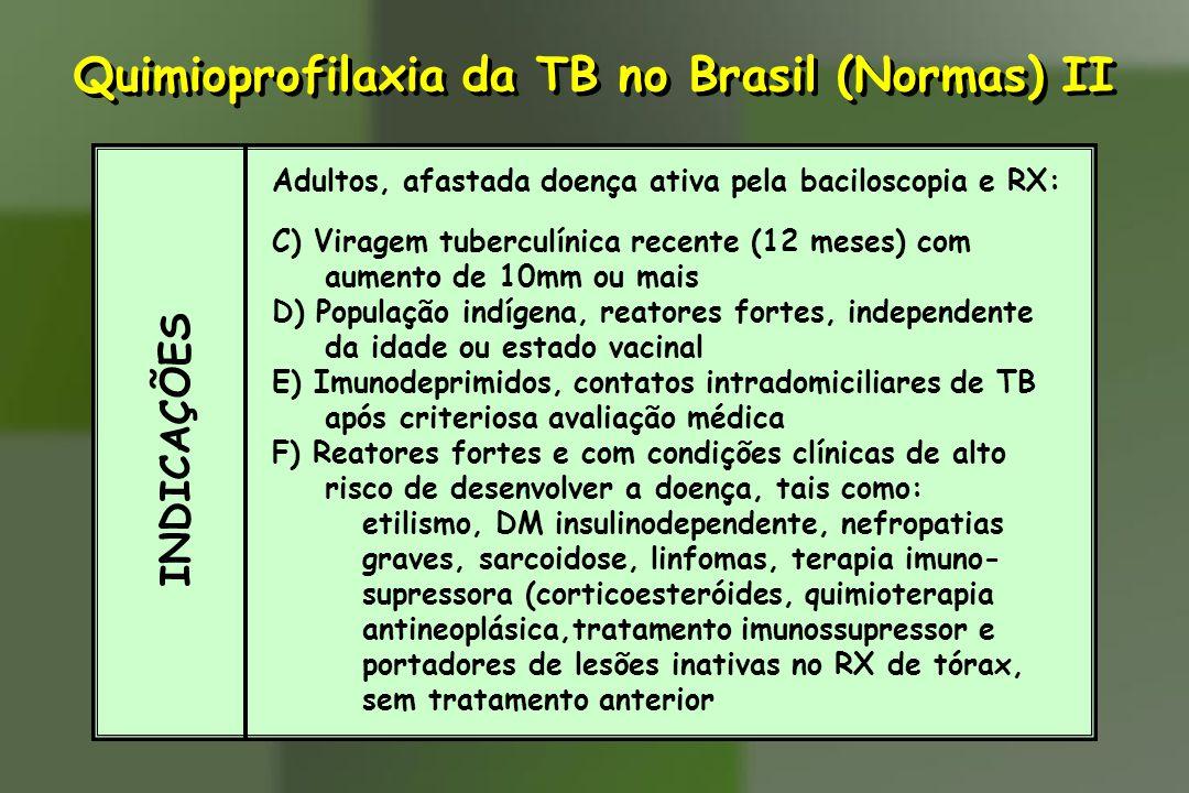 Quimioprofilaxia da TB no Brasil (Normas) II