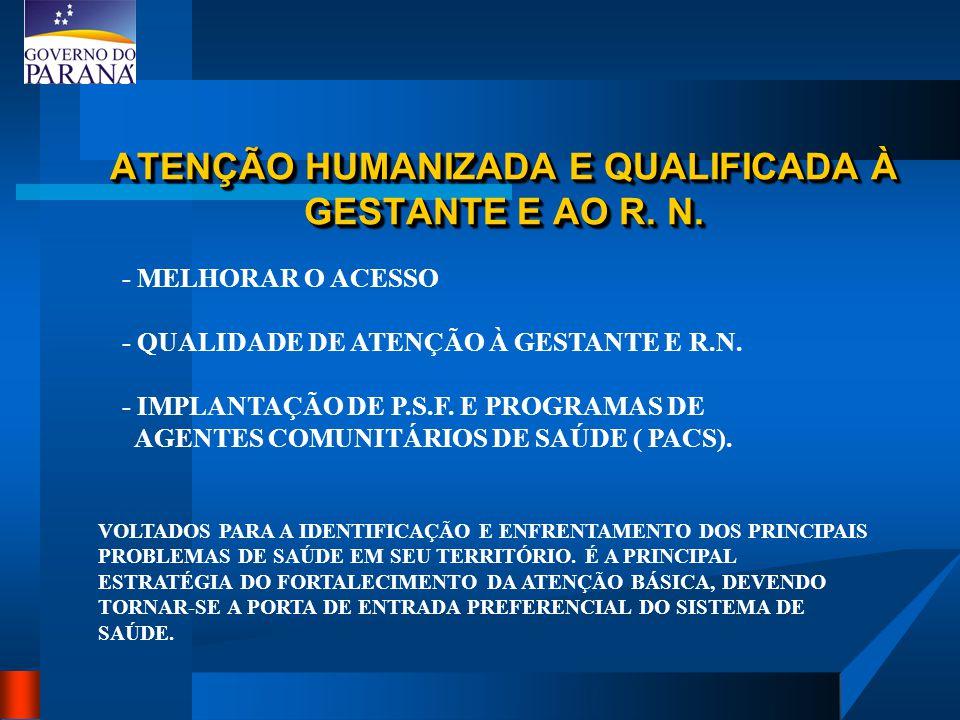 ATENÇÃO HUMANIZADA E QUALIFICADA À GESTANTE E AO R. N.