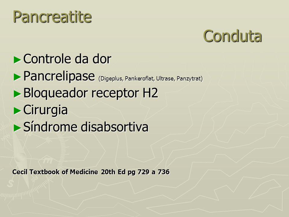 Pancreatite Conduta Controle da dor