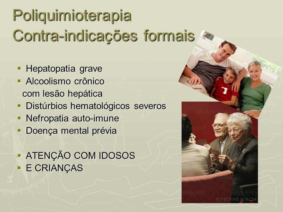 Poliquimioterapia Contra-indicações formais