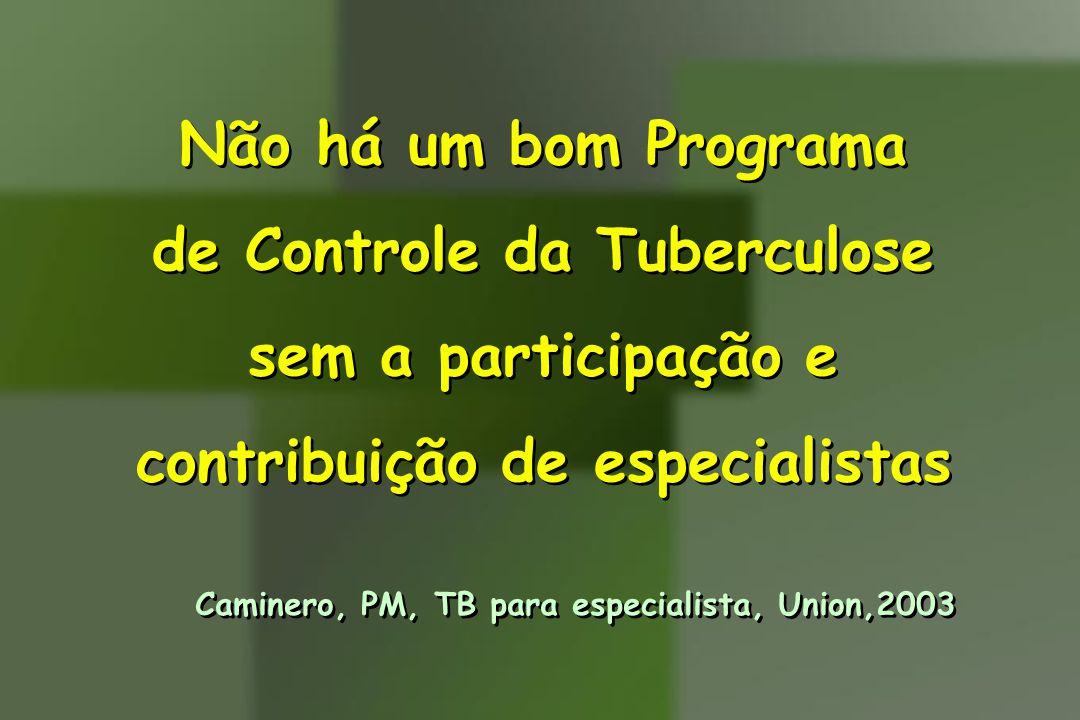 de Controle da Tuberculose sem a participação e