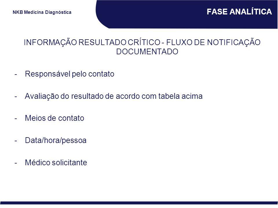 INFORMAÇÃO RESULTADO CRÍTICO - FLUXO DE NOTIFICAÇÃO DOCUMENTADO