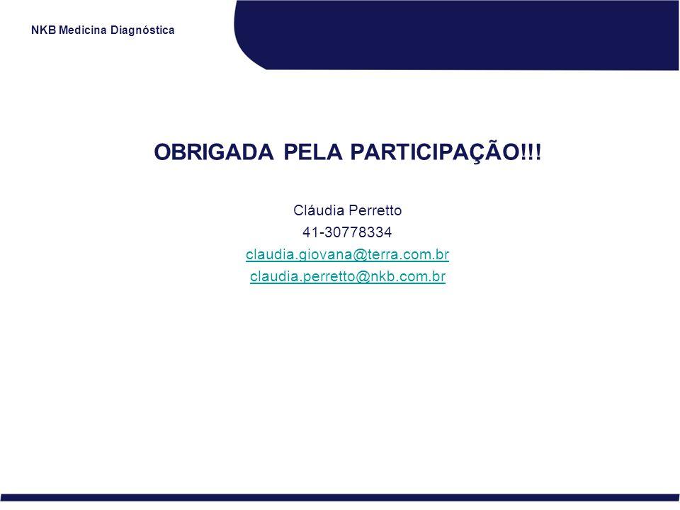 OBRIGADA PELA PARTICIPAÇÃO!!!