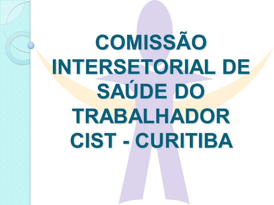 COMISSÃO INTERSETORIAL DE SAÚDE DO TRABALHADOR CIST - CURITIBA