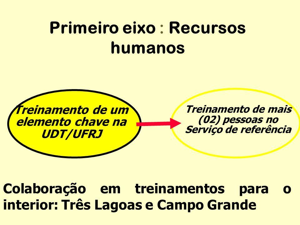 Primeiro eixo : Recursos humanos