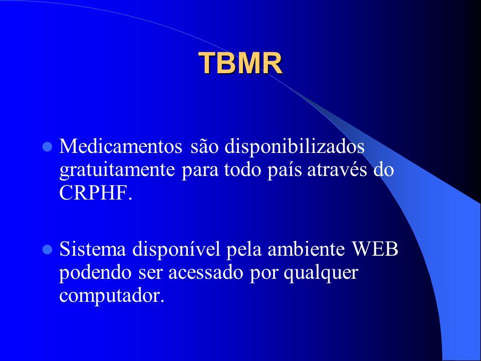 TBMR Medicamentos são disponibilizados gratuitamente para todo país através do CRPHF.