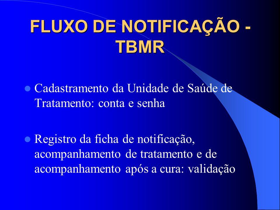 FLUXO DE NOTIFICAÇÃO - TBMR