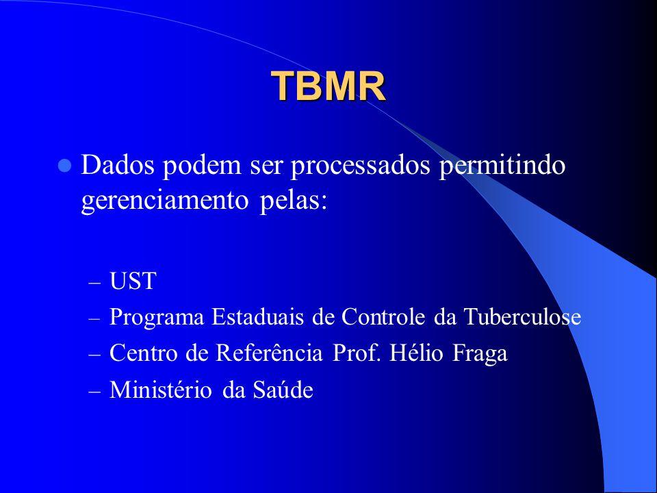 TBMR Dados podem ser processados permitindo gerenciamento pelas: UST