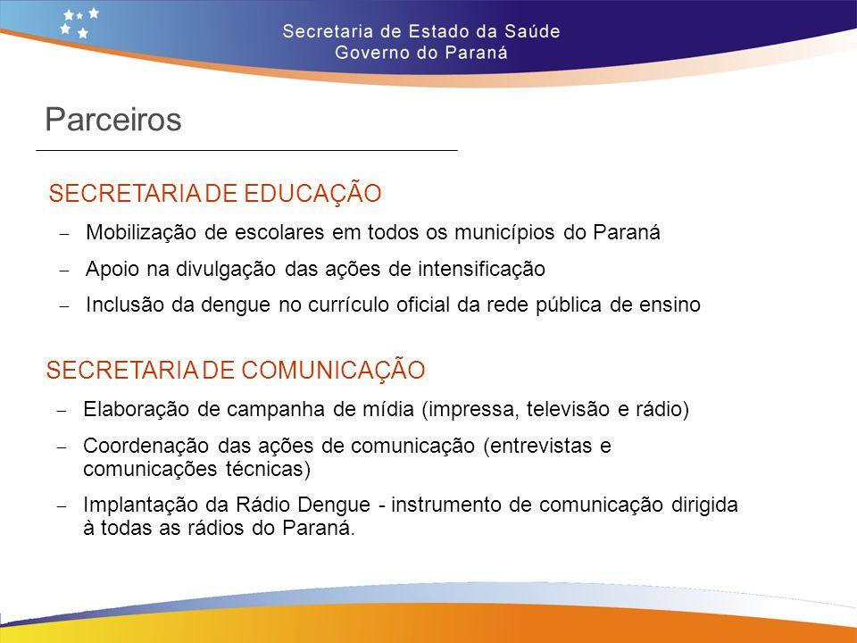 Parceiros SECRETARIA DE EDUCAÇÃO SECRETARIA DE COMUNICAÇÃO